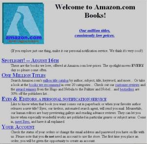 This is how Amazon.com site looked in year 1994 :)
