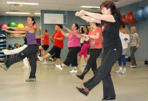 Zumba in action...