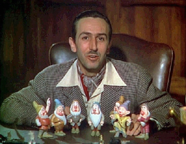 Walt Disney presenting 'Snow white'.