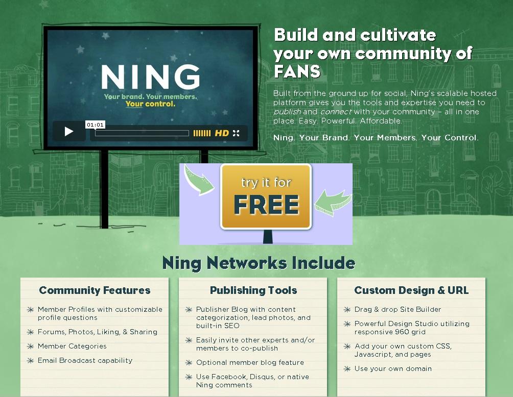 The site Ning.com