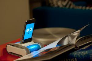 Romo robot reading...