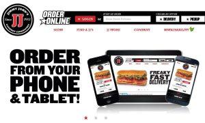 Jimmy Jones Sandwiches logo and website.