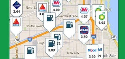 Gasbuddy shows all stations near me and their prices.