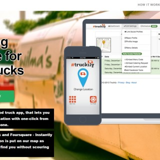Truckily is an innovative web and online marketing tool for food trucks.