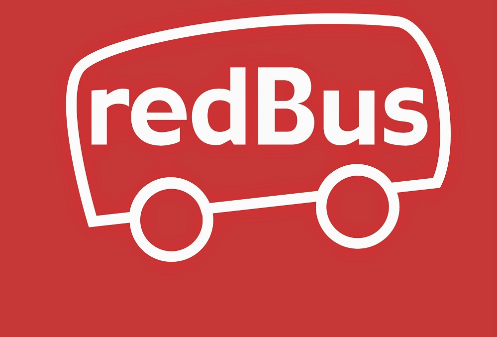 The logo of redBus