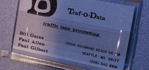 Traf-O-Data Business Card.